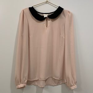 One Clothing Double Collar Peasant Top Small